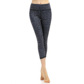 Breathable Marled Cropped Workout Leggings