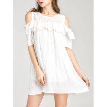 Cold Shoulder Ruffle Layer Dress