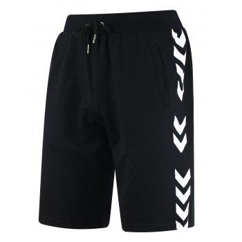 Arrows Print Drawstring Sweat Shorts