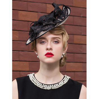 Lace Ribbon Floral Mesh Piece Cocktail Hat