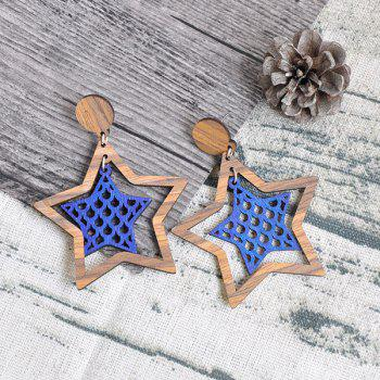 Star Wooden Vintage Earrings