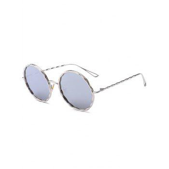 Hollow Out Leg Wavy Metallic Frame Sunglasses