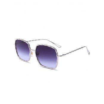 Wavy Rectangle Metal Frame Ombre Sunglasses