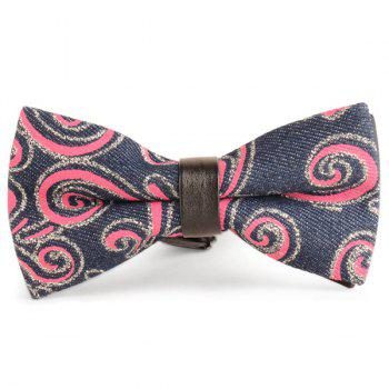 Cirrus Printed Layered Denim Bow Tie - RED RED