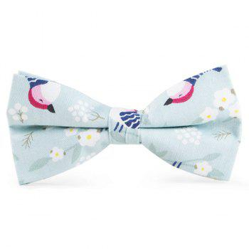 Cartoon Bird Flowers Printing Bow Tie