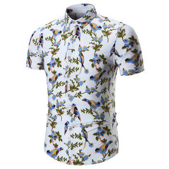 Plus Size Birds Print Shirt