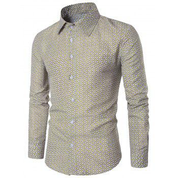Long Sleeves Vertigo Print Shirt