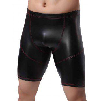 Artificial Leather Boxer Briefs
