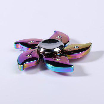 Rainbow Floral EDC Metal Time Killer Fidget Spinner - Coloré 6*6CM