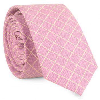 Plaid Cotton Blended Tie - SUEDE ROSE SUEDE ROSE