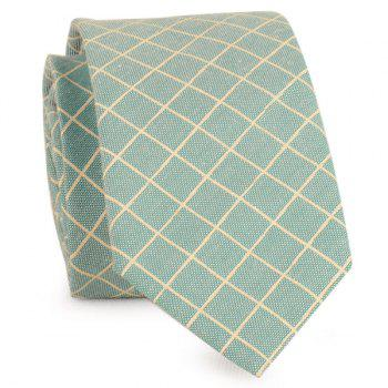 Plaid Cotton Blended Tie - GREEN GREEN