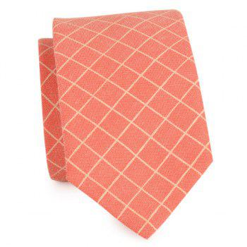 Plaid Cotton Blended Tie