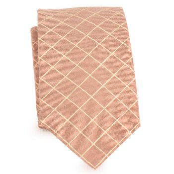 Plaid Cotton Blended Tie - LIGHT KHAKI LIGHT KHAKI