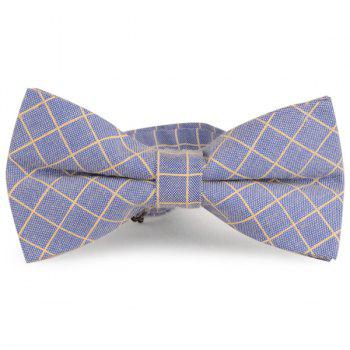 Checked Cotton Blending Bow Tie