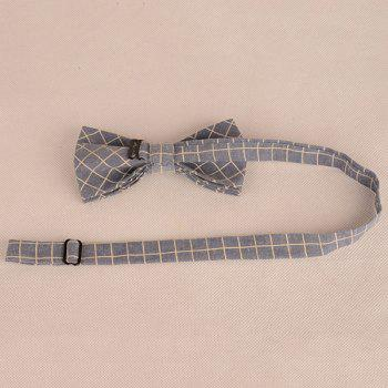 Checked Cotton Blending Bow Tie -  CADETBLUE