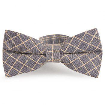 Checked Cotton Blending Bow Tie - CADETBLUE CADETBLUE