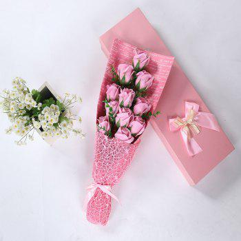 Mother's Day Gift 11 PCS Handmade Soap Rose Artificial Flowers -  PINK