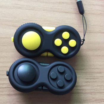 EDC Finger Toy Stress Relief Fidget Pad Gamepad - YELLOW