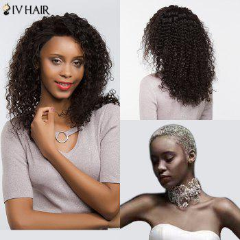 Siv Hair Free Part Dyed Perm Shaggy Long Deep Curly Lace Front Human Hair Wig