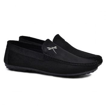 Embroidery Slip On Stitching Casual Shoes