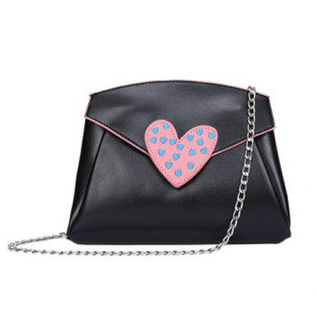 Heart Pattern Chain Crossbody Bag