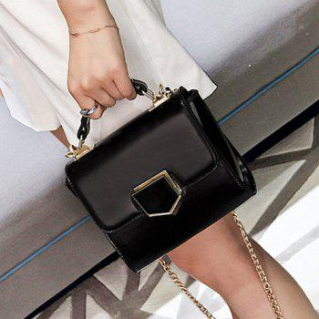 Chain Metal Detail Cross Body Bag