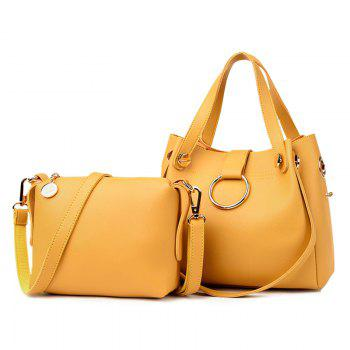 Crossbody Bag and Metallic Ring Handbag - YELLOW YELLOW