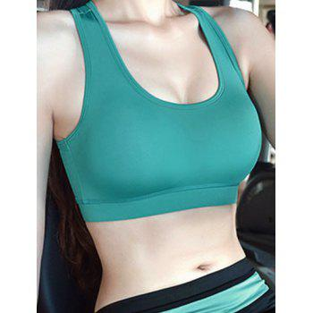 U-Neck Sleeveless Slimming Racerback Sports Bra
