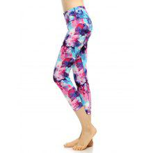 High Rise Printed Capri Funky Gym Leggings