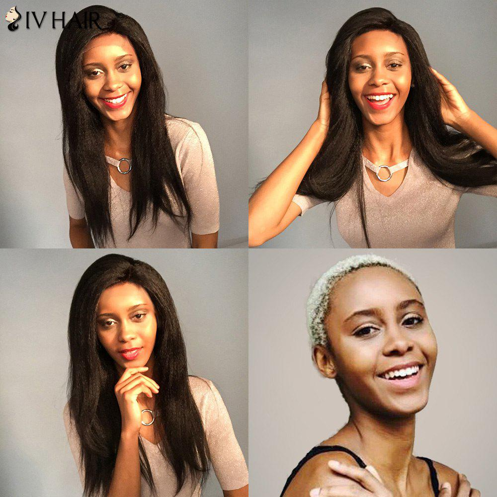 Siv Hair Dyed Perm Long Side Part Yaki Straight Lace Front Human Hair Wig long centre part yaki straight lace front synthetic wig