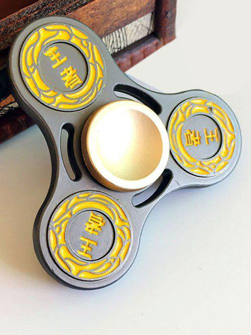 Finger Gyro Hollow Out Stress Relief Toy King Fidget Spinner - Noir
