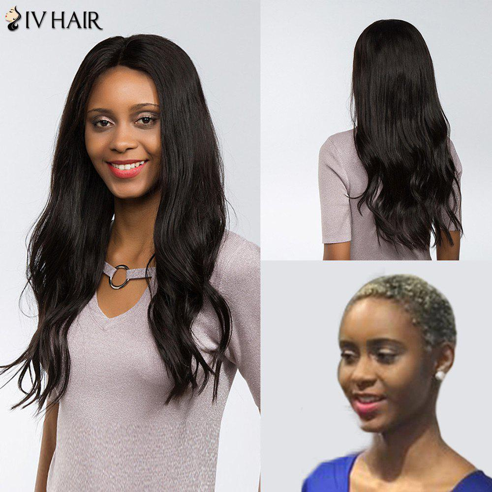 Straight perm and dying hair - Siv Hair Perm Dyed Free Part Long Natural Straight Lace Front Human Hair Wig Black