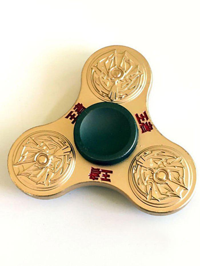 King Stress Relief Toy Finger Gyro Finger Spinner - Or