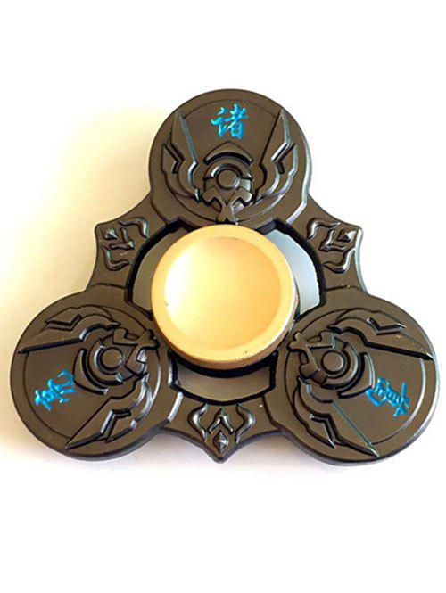 Zhuge Liang Focus Toy Triangle Finger Gyro Fidget Spinner - GREEN BROWN