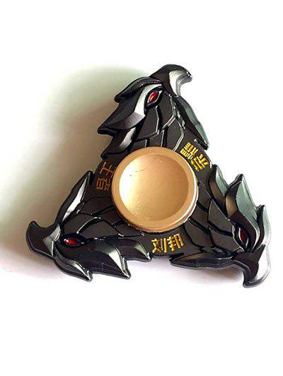 Liu Bang Three Eagle Triangle Stress Relief Toy Hand Spinner - Noir
