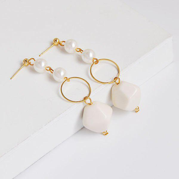 Irregularity Circle Geometric Beads Drop Earrings nobis nobis 152461