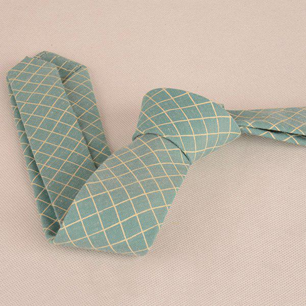 Plaid Cotton Blended Tie - GREEN
