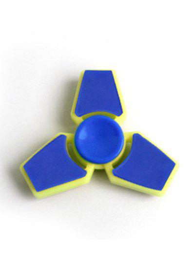 Trois Leaf Finger Gyro Stress Relief Toy Finger Spinner - Bleu clair