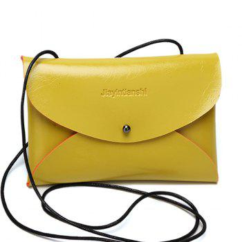 Faux Leather Envelope Crossbody Bag
