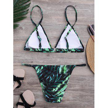Tropical Leaves Print Bikini Set - XL XL