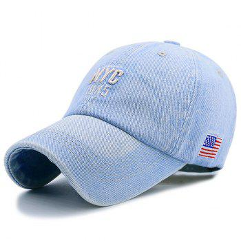 Letters American Flag Embellished Denim Baseball Hat