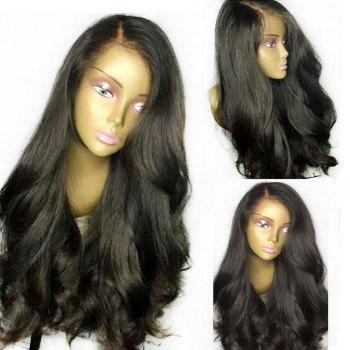 Thick Side Part Natural Ultra Long Straight Lace Front Synthetic Wig