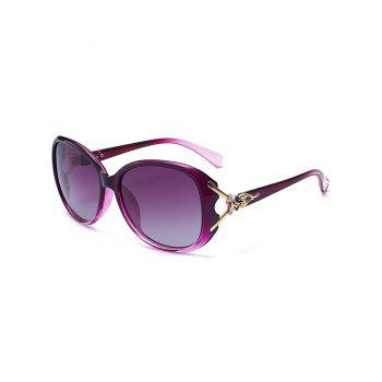 Metallic Carved Inlay Ombre Sunglasses