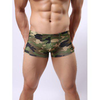Stretch Camo Print Boxer Briefs