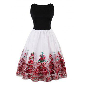 Vintage Embroidered Flare Dress
