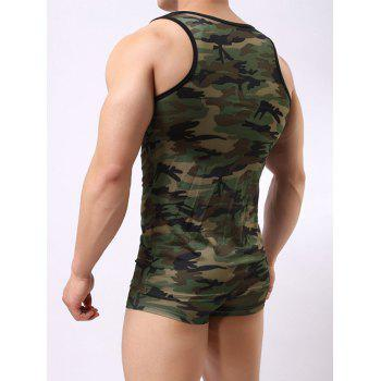 Boxer Briefs and Camo Tank Top - ACU CAMOUFLAGE M