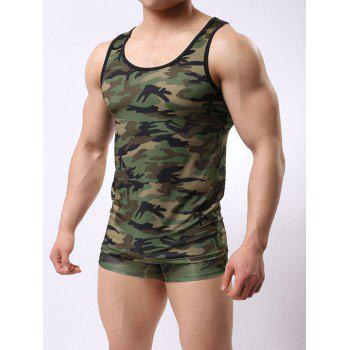 Boxer Briefs and Camo Tank Top