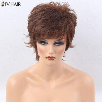 Siv Hair Side Bang Shaggy Layered Tail Upwards Short Straight Human Hair Wig