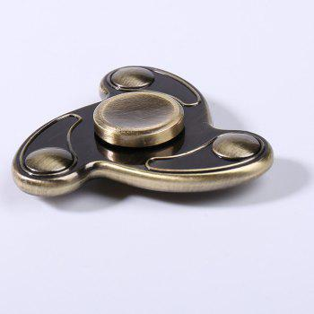 Stress Reliever Fidget Finger Spinner Focus Toy - Bronze 6.5*6.5*1.5CM