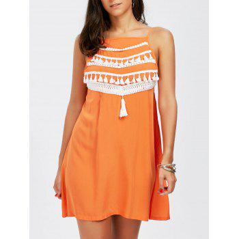 Spaghetti Strap Tassel Dress